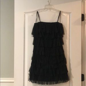 Ann Taylor Tulle Fringe Dress